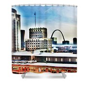 St Louis Skyline Shower Curtain