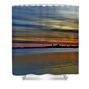 St Louis Sunset Shower Curtain