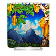St. Lucia Cocoa Shower Curtain by Daniel Jean-Baptiste