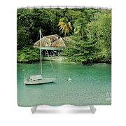 St. Lucia Mooring Shower Curtain