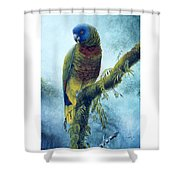 St. Lucia Parrot - Majestic Shower Curtain