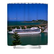 St. Lucia Port Shower Curtain
