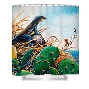 St. Lucia Whiptail Shower Curtain