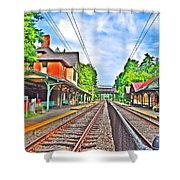 St. Martins Train Station Shower Curtain