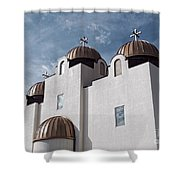 St Mary And St Abraam Coptic Orthodox Church Shower Curtain