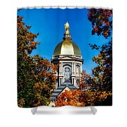 St Mary Atop The Golden Dome Of Notre Dame Shower Curtain