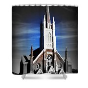 St. Mary In The Mountains Shower Curtain