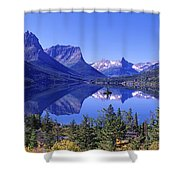 St Mary Lake Glacier National Park Mt Shower Curtain