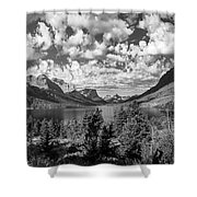 St Mary Lake Glacier National Park Panoramic Shower Curtain