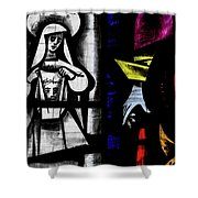 St Mary Redcliffe Stained Glass Close Up C Shower Curtain