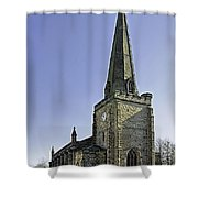 St Mary's Church At Uttoxeter Shower Curtain