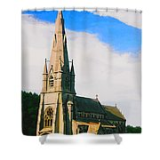 St Mary's Church, Studley Royal  Shower Curtain