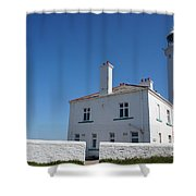 St. Mary's Island And The Lighthouse. Shower Curtain
