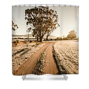 St Marys Winter Country Road Shower Curtain