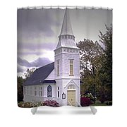 St. Mathews Chapel In Sugar Hill Shower Curtain