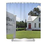 St. Matthews Lutheran Church Shower Curtain