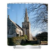 St Michael And All Angels Church -- Little Bredy Shower Curtain