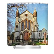 St Michael And St George R.c Church - Lyme Regis Shower Curtain