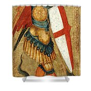 St Michael And The Dragon Shower Curtain