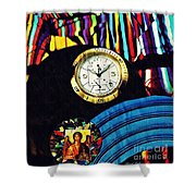 St Michael At The Gates Of Time Shower Curtain