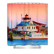 St. Michael's Lighthouse Shower Curtain