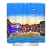 St. Michael's Marina Shower Curtain