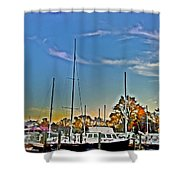 St. Michael's Marina On The Chesapeake Shower Curtain