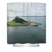 St Michaels Mount Aerial Shower Curtain