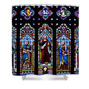 St. Michael's Parish Stained Glass Shower Curtain