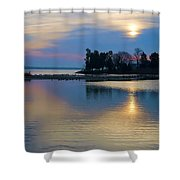 St. Michael's Sunrise Shower Curtain by Bill Cannon