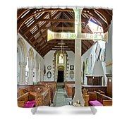 St Mylor Altar Cross Shower Curtain