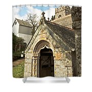 St Mylor And Bell Tower Shower Curtain