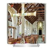 St Mylor Cross Reflections Shower Curtain