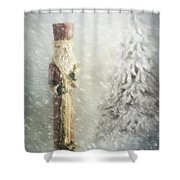 St Nicholas In The Snow Shower Curtain