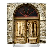St Olafs Kirke Door Shower Curtain