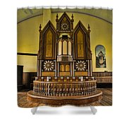 St Olafs Kirke Pulpit Shower Curtain