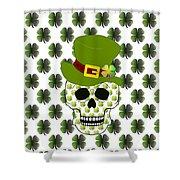 St Paddys Skull  Shower Curtain