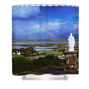 St Patricks Statue, Co Mayo, Ireland Shower Curtain