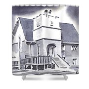 St Paul Lutheran With Ink Shower Curtain