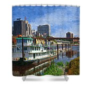 St Paul Tugboat Shower Curtain