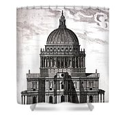 St. Pauls Drawn By Christopher Wren Shower Curtain
