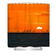 St. Pete Fireball Shower Curtain