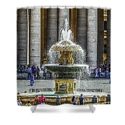 St. Peter's Square Fountain At The Vatican Shower Curtain