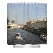 St. Petersburg Canal - Russia Shower Curtain