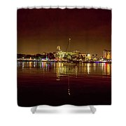 St Petersburg, Fl, Skyline At Night Shower Curtain