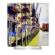 St Saviours Wharf Shower Curtain