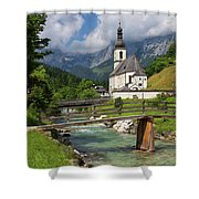 St. Sebastian Church Shower Curtain