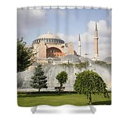 St Sophia Mosque And Fountain In Park Shower Curtain