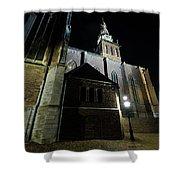 St. Steven's Church In Nijmegen At Night Shower Curtain
