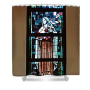 St. Theresa Stained Glass Window Shower Curtain